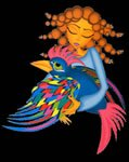 The girl and the enchanted bird